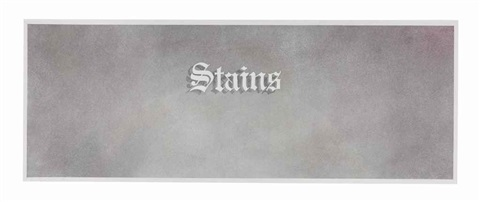 stains by ed ruscha