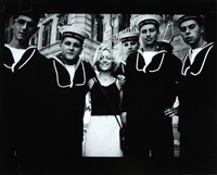 georgie hopton & sailors, rome, may by johnnie shand kydd
