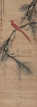 松绶图 by ma wanli