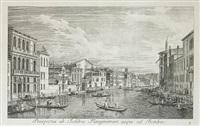 urbis venetiarum prospectus celebriores ex antonii canal (series of 8 w/frontispiece) by antonio visentini