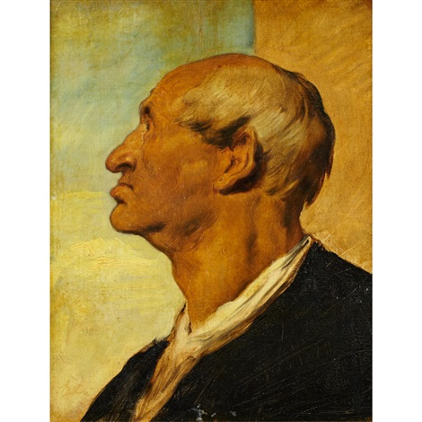 head of a revolutionary by eugène delacroix