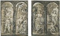 vier allegorische frauengestalten (2 works) by jan erasmus quellinus