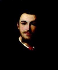 portrait de jeune homme by emile-jean-claude courbe