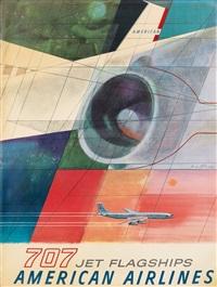 american airlines / 707 jet flagships by herbert danska