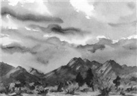 western mountain landscape by agnes anne abbot