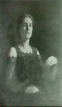 portrait of constance, daughter of e.s. goodes by frank samuel eastman
