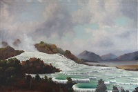 the white terraces, rotomahana by george edmund pruden