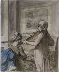 a young couple making music by jurriaan andriessen
