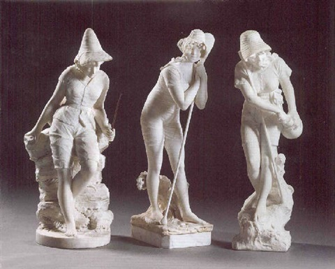 three female bathers by antonio argenti