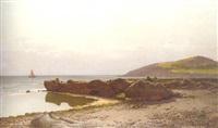 coastal landscape by hans schleich