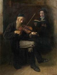 jüdischer geigenspieler by lazar krestin