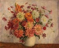 gartenblumen in vase by isabella mikulicz-breyer