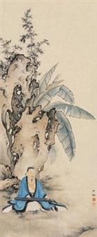 抚琴高士图 by chen shaomei
