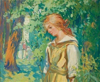 young woman in a park by harriette bowdoin