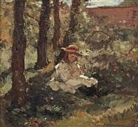 girl in the shade by johannes evert hendrik akkeringa