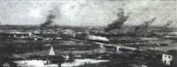 vue d'alfortville des hauteurs de charenton by louis raoul arus