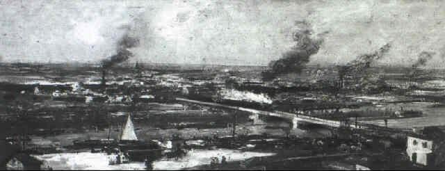vue dalfortville des hauteurs de charenton by louis raoul arus