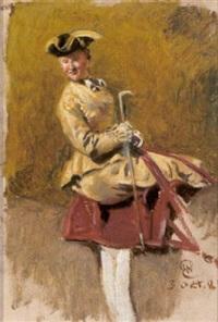 elegante dame zu pferd by wilhelm emele
