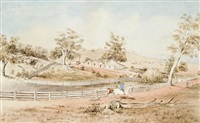 hill river station, clare, south australia by samuel thomas gill