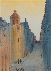 valetta street scene by nicholas krasnoff