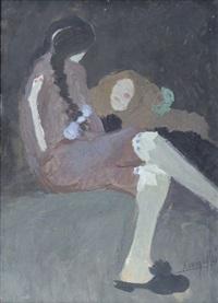 bambina seduta by lorenzo viani
