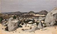 rochers dans la forêt de fontainebleau by robert humblot
