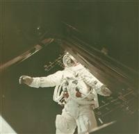 russell schweickart's eva, apollo 9, march 1969 by james mcdivitt
