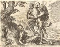 5 bll. aus: die taten des herkules (after frans floris) by cornelis cort