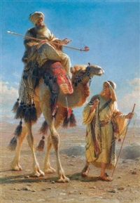 the sheikh and his guide by carl haag