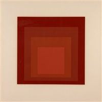 homage to the square (rouge) by josef albers