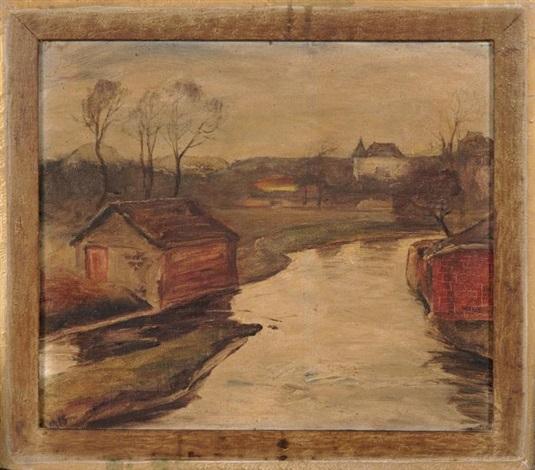 ruisseau et maison by lloyd frederic rees