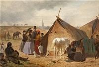a romany camp near düsseldorf by emil volkers