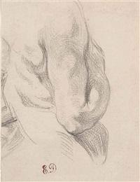 torse d'homme nu, vu de dos by eugène delacroix
