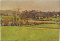 landscape at firle by duncan grant