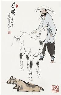 伯乐 立轴 设色纸本 by fan zeng