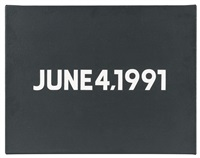 june 4, 1991 (from the today series, 1966-2013) by on kawara