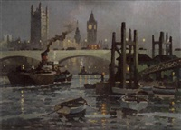 towards waterloo bridge by george ayling