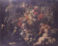 nature morte aux amours et au perroquet by aniello ascione