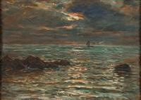 coucher de soleil sur l'océan by jules masuré