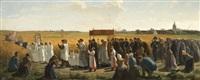 la bénédiction des blés dans l'artois by jules breton