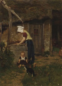 fetching water by august allebé
