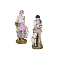figurine (set of 2) by limoges