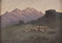 a flock of sheep by allerley glossop