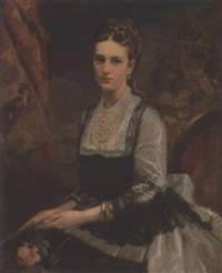 portrait of queen alexandra by carl forup