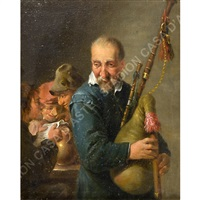 suonatore di cornamusa by david teniers the younger