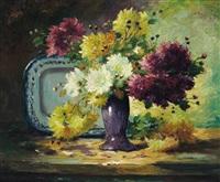 astern in einer lila vase by eva alexandre
