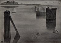 quiet harbor by louis lozowick