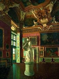 blick in die sala di giove der galleria palatina im palazzo pitti in florenz by antonio maria aspettati