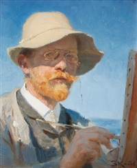 self portrait by peder severin krøyer