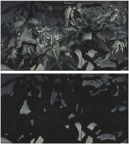 melee de guerriers nus de etienne delann (diptych) by adriana varejão